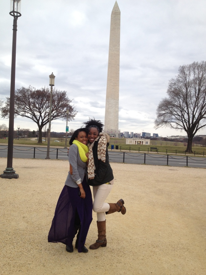 With my cousin by the monument in DC